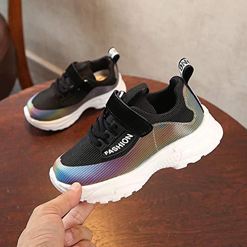Absolute Negro Mesh Boys Zapatos Bebés Print Sport Shoes Toddler Running Niños Girls Para Kids Sneakers ❤️ wqR1CAC