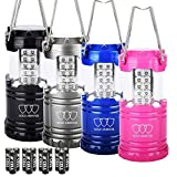 Gold Armour LED Lantern Camping Lanterns 4Pack - Camping Equipment Camping Gear Camping Lights for Hiking, Emergency, Hurricanes, Outages, Storms, Camping Lanterns (CL11)