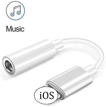 Luvfun Adaptador para iPhone, Auriculares Adaptador de Audio a 3.5mm Auriculares Jack Adaptador para iPhone 11XXSXS MAXXR77Plus88Plus