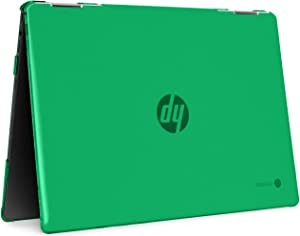 """mCover Hard Shell Case for 14"""" HP Chromebook X360 14-DA0000 Series laptops (NOT Compatible with Other HP Chromebook & Windows laptops) (Green)"""
