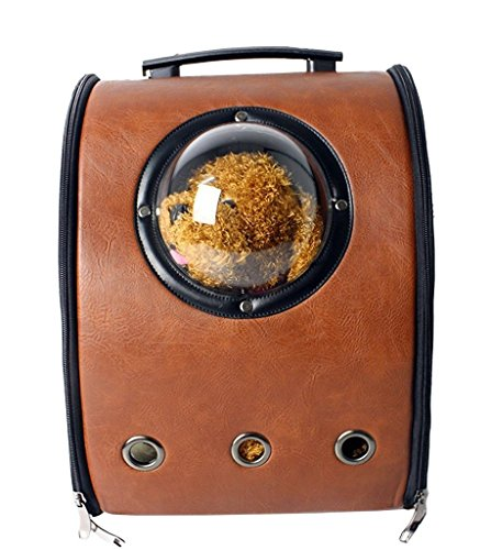 Pettom-Innovative-Patent-Bubble-Pet-Carriers-Shoulder-Backpack-Mobile-Bed-Airline-Approved-Carrier-for-Cats-Dogs-Travel-HikingBrown