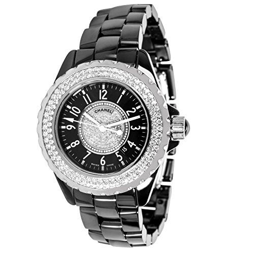 Chanel J12 H1708 Ladies Watch in Ceramic and Diamonds (Certified Pre-Owned)