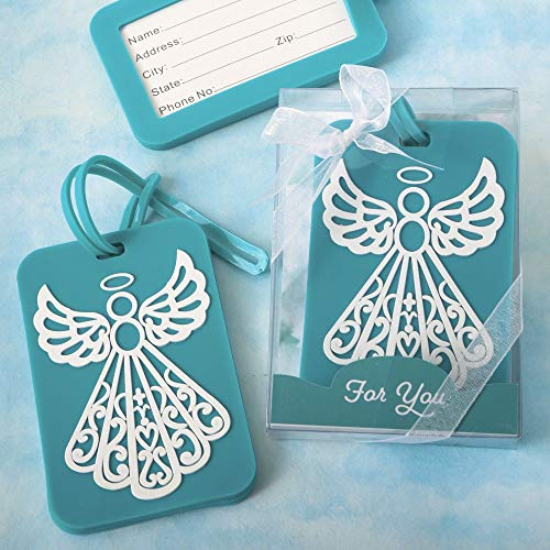 24 Turquoise Guardian Angel Design Luggage Tags -