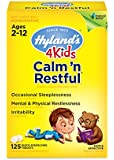 Hyland's 4 Kids Calm 'n Restful Tablets, Safe and Natural Relief of Sleeplessness and Restlessness for Children, 125 Count