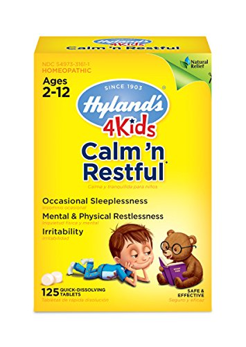 Hyland's 4 Kids Natural Calm'n Restful Tablets, Natural Relief of Sleeplessness and Restlessness in Kids, 125 Count