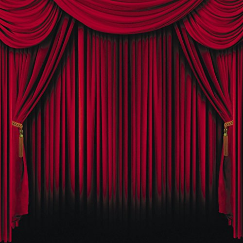 Red Curtain Backdrop Photo Prop Wall Mural MOVIE circus magic STAGE show