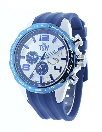 Technosport Drivers 46mm Swiss Multifunction Blue Rubber Strap Men's Watch TS-800-3