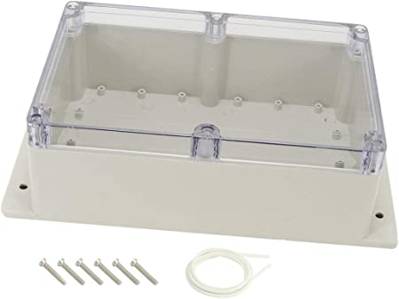 """Light Gray Sealed Electric Junction Enclose Case 5.7/"""" x 5.7/"""" x 3.1/"""""""
