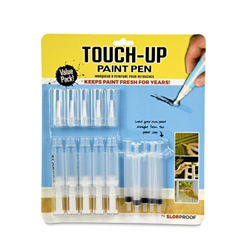 Slobproof Touch-Up Paint Pen | Fills with Any Paint for Color-Matched Touch Ups to Scuffed Walls and Trim | Keeps Paint Fresh Inside for At Least Seven Years | Includes Two Fine Brush-Tips, 5-Pack by Slobproof