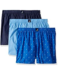 Nautica Mens Cotton Woven 3 Pack Boxer Boxer Shorts