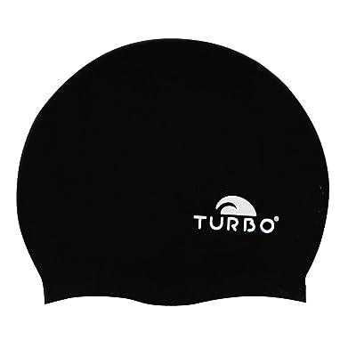 Turbo Bonnet de bain en silicone noir taille unique