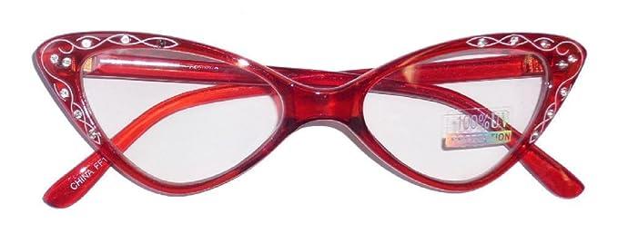 Rhinestone 1950 S Eyeglasses Retro Cat Eyeglasses Transparent Frames