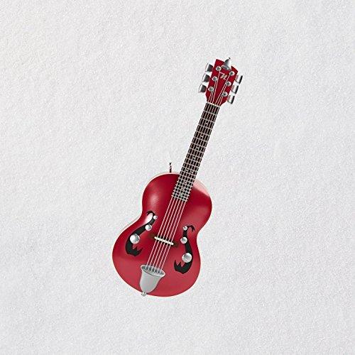Hallmark Keepsake Mini Christmas Ornament 2018 Year Dated, Little Strummer Guitar Miniature With Music, 3.04