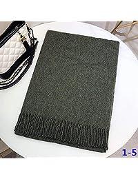 YUANZ Home Plain Shawl Warm Fashion Scarf Thick Scarf (Color : 1-6)