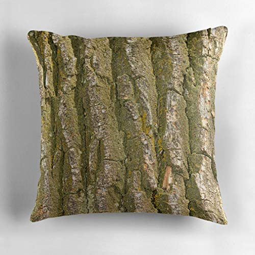 - Uwwrticm Cottonwood Tree Bark Texture Personalized Cotton Throw Pillow Cover Cushion Cover Pillowcase Cushion Case Cover for Home Sofa Decor 18 x 18 Inch