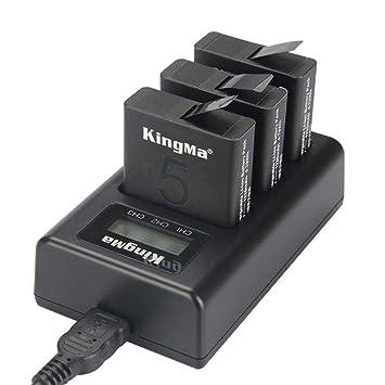 dubens USB 3 Canal batería Cargador de Tres vías para GoPro ...