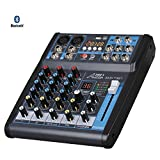 Audio 2000s AMX7321UBT 4-Channel Audio Mixer with USB, Bluetooth...