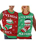 Jacansi Women's Long Sleeve Ugly Christmas Pullover Graphic Knitted Sweaters L