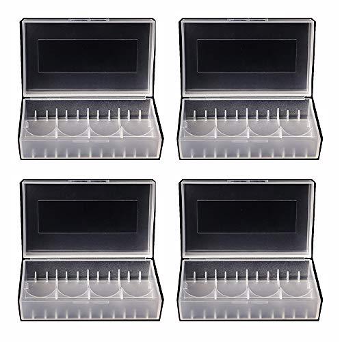 4 Pack 20700/21700 Plastic Battery Case Portable Dual Box