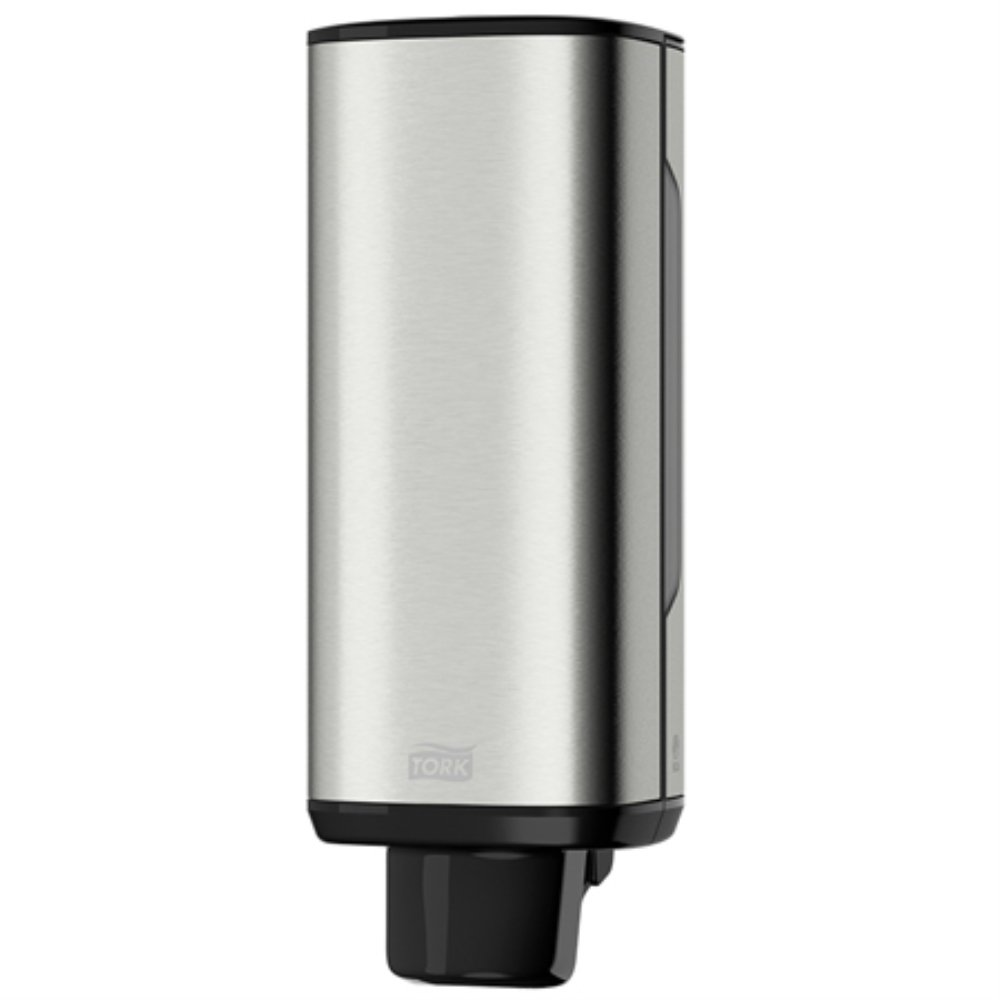 Tork 466000 Image Design Foam Skincare Manual Dispenser, 11.375'' Height x 4.25'' Width x 4.25'' Diameter, Stainless Steel, for use with Tork 401211, 401212, 401213 or 400261