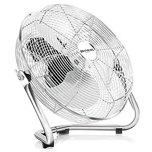 Brandson Windmaschine / Retro-Stil Ventilator in Chrom | Standventilator 35cm...
