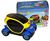 Electric Car with Lights, Sirens and Sounds, goes around and changes directions on contact (Battery Powered) - Great Gift, Toys for Kids (colors may vary)
