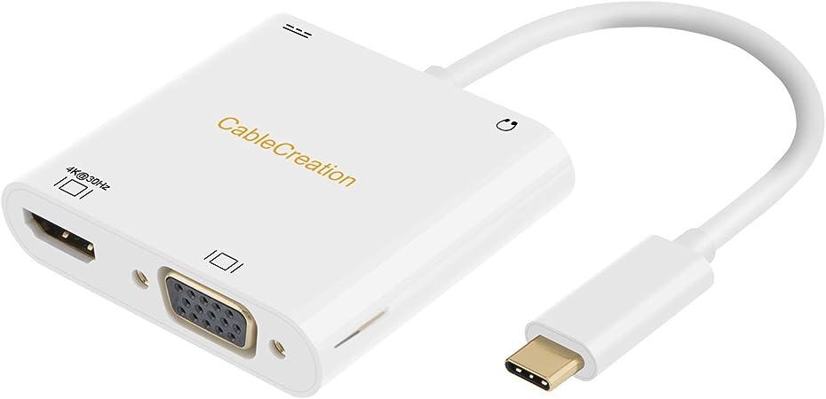 Usb C Auf Vga Hdmi 4k Adapter Cablecreation Typ C Auf Computer Zubehör