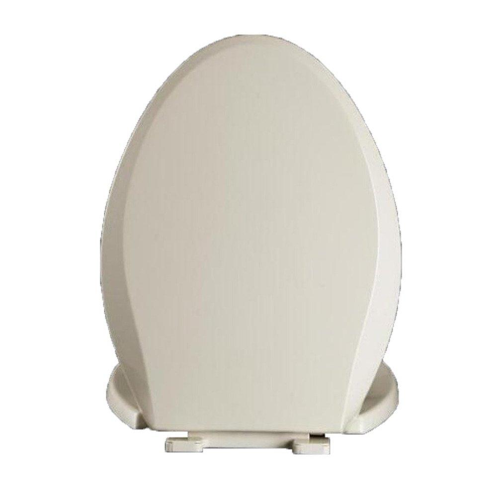 Beige 44 ANHPI Universal Toilet Seat V-shaped Slow Down Mute Antibacterial Toilet Lid,Beige-44-4936CM
