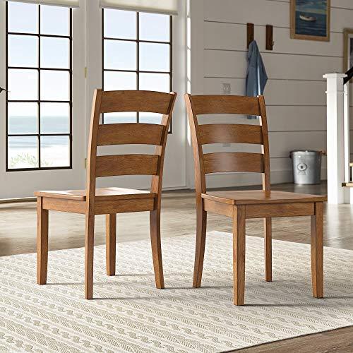 Inspire Q Wilmington II Ladder Back Wood Dining Side Chairs (Set of 2) by Classic Oak Oak Finish, Wood Finish