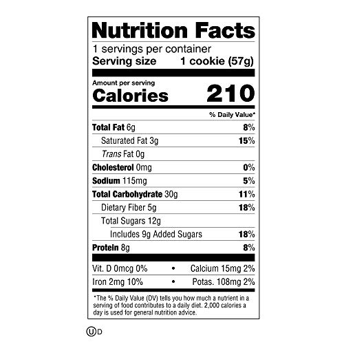 Lenny & Larry's The Complete Cookie Snack Size, Chocolate Chip, Soft Baked, 8g Plant Protein, Vegan, Non-GMO 2 Ounce Cookie (Pack of 12) 5
