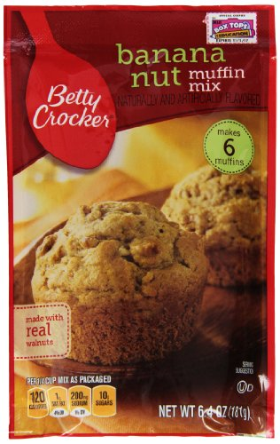 - Betty Crocker Baking Mix, Banana Nut Muffin Mix, 6.4 Oz Pouch (Pack of 9)
