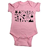 Ilion Clothing Co. Harry Potter Baby One Piece Icons Bodysuit (6 Month, Pink)
