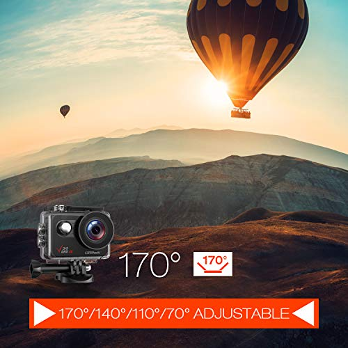 Campark V30 Native 4K Action Camera 20MP EIS Touch Screen WiFi Waterproof Camera with Optional View
