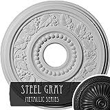 Ekena Millwork CM16GNSGS Genevieve Ceiling Medallion, Steel Gray