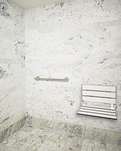 Seachrome Bathroom Grab Bar, 24 inch Stainless Steel, Handicap Grab Bar, 1 1/4 inch Diameter, Polished Finish by Seachrome (Image #2)
