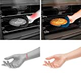 Kettio - Silicone Oven Rack Guard (Set of 3) - Certified BPA Free, FDA Approved, heat resistant silicone - protects against burns and scars - Black