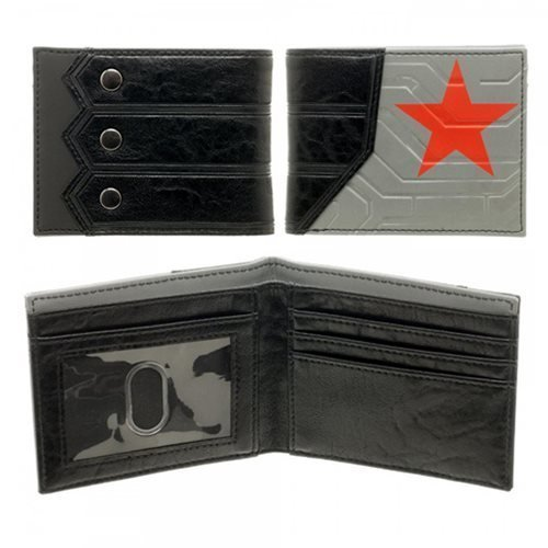 Marvel Captain America Civil War Winter Soldier Logo Bifold Wallet BioWorld