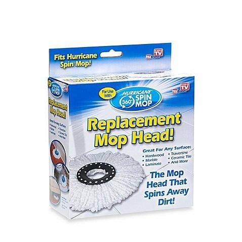 Hurricane Spin Mop Replacement Mop Head (Hurricane Spin Mop Mop Heads)