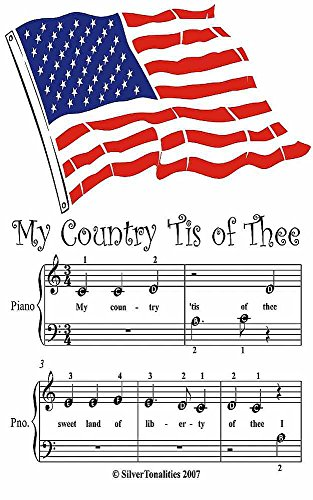 Country Patriotic Songbook (My Country Tis of Thee Beginner Tots Piano Sheet Music)