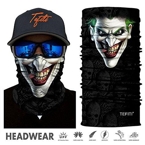 TEFITI Versatile Face Masks Casual Balaclava Headwear Stretchable Bandana Headbands Wind/Sun/UV Protection for Cycling,Motorcycling,Fishing,Hunting,Hiking,Yard Working and Other (PL180177)
