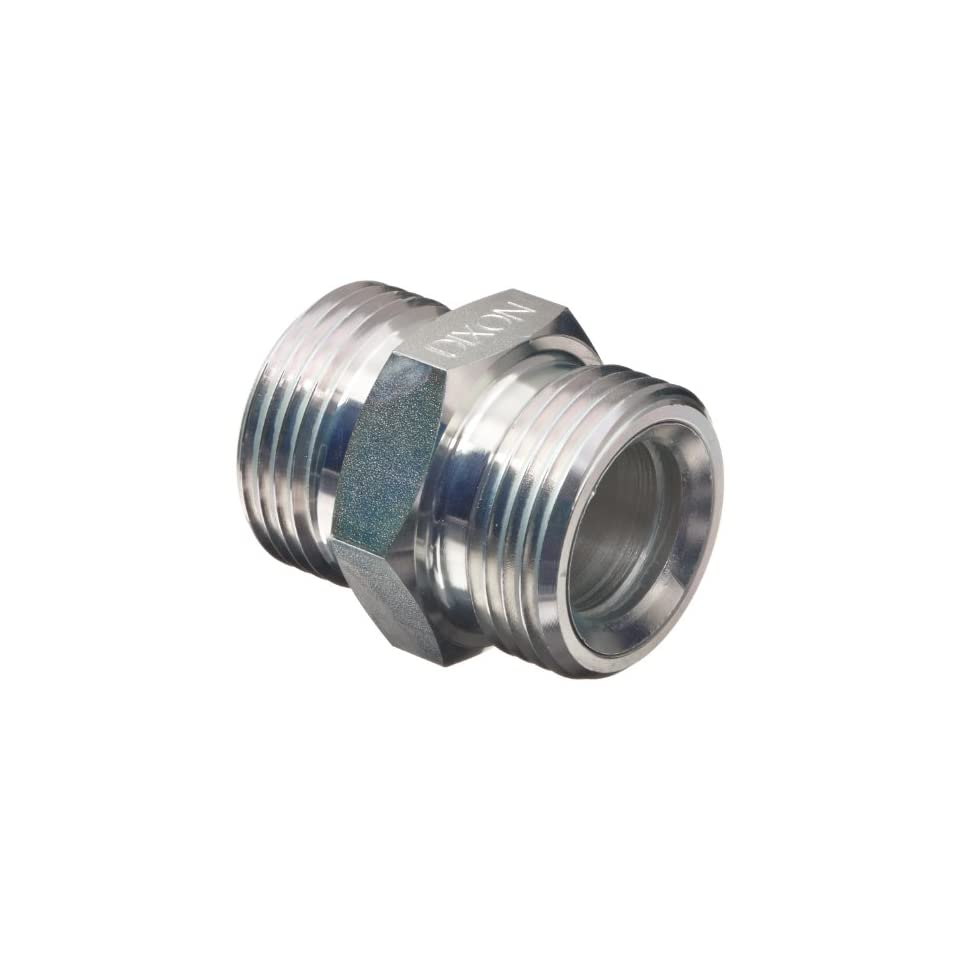 Dixon GDL25 Plated Steel Air Hose Fitting, Double Spud for 3/4 and 1 Heavy Duty Ground Joint Air Hammer Coupling with Copper Seat, 1 47/64 OD x 8 TPI