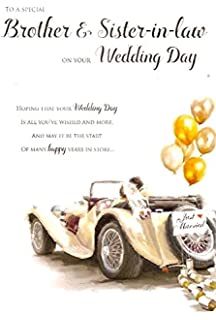 Wedding Day Card To A Special Brother Sister In Law
