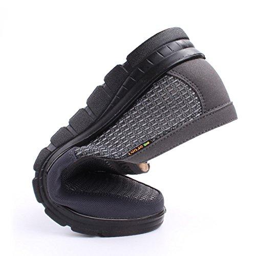 les hommes d'été maille chaussures/chaussures vigoureuses âgées/espadrilles de glissement respirantes/maille extérieure supérieure A XACoGnqY1