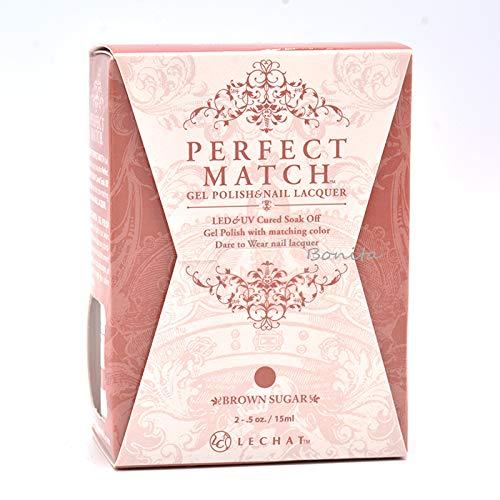 Lechat Perfect Match Gel Polish + Matching Nail Polish Color Me Autumn Collection PMS236 Brown Sugar ()