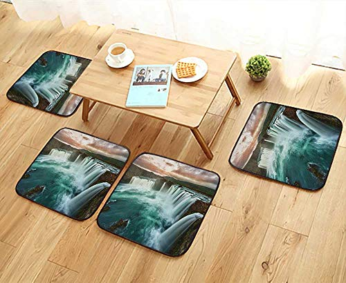 Magis Modern Chair - Printsonne Modern Chair Cushions of Majestic Iceland Waterfall Flowing Down The River Northern Magi Convenient Safety and Hygiene W23.5 x L23.5/4PCS Set