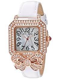 Betsey Johnson Women's BJ00623-03 Crystal Bow and Case Vintage Watch