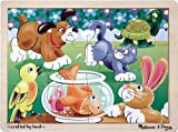 : Melissa & Doug Pets Wooden Jigsaw Puzzle With Storage Tray (12 pcs)