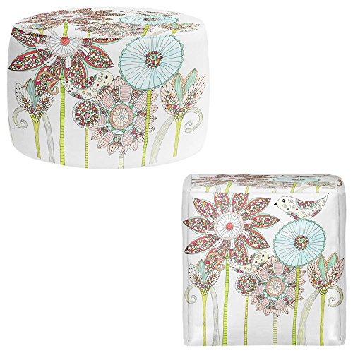 DiaNoche Designs Foot Stools Poufs Chairs Round or Square from by Valerie Lorimer - My Perfect Garden from DiaNoche Designs