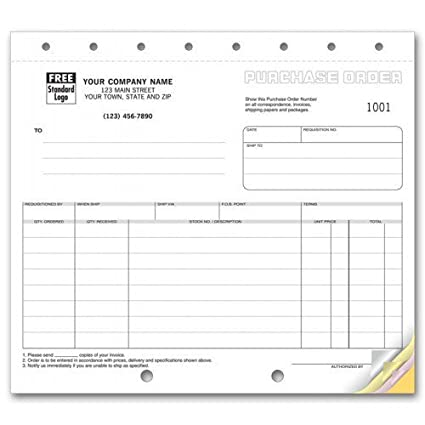 Compact Purchase Order Forms Office Products