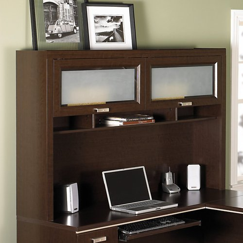 Bush Furniture Tuxedo Hutch, Mocha Cherry by Bush Furniture